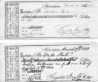 16, 19 Mar 1864 Philadelphia, receipts to Steck from Snyder, Grubb, and Co
