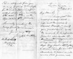 16 April 1853 dated Quebec, Canada from Joseph Hartmen to Steck, Hughsville Pa. re: school days at...