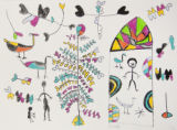 Birds and Women Eating Sour Berries