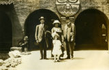 Family in front of the Albuquerque Fred Harvey Indian Building