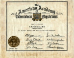 American Academy of Tuberculosis Physicians Membership Certificate