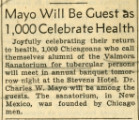 Annual Dinner Chicago 10th, Newspaper Clipping
