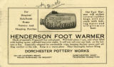 Henderson Foot Warmer Postcard