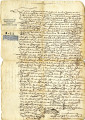 Letter of payment to Gabriel Morales, Mexico 1618.