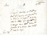 Payment receipt of Don Luis Marrugat, attorney for the heirs of the Count of Regla 1798.