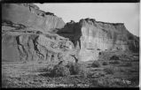 """View in Cañon de Chelly, Arizona, Cliff Dwellings"""