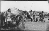 Chiricahua Apache camp on San Carlos River, Arizona
