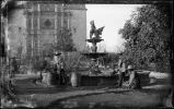 """The Fountain in the Plaza de Armas, Chihuahua, Mexico, December 1882"""