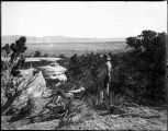 """Distant View of Fort Wingate in the Navajo Country, New Mexico"""