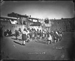 """View of Laguna Pueblo, Inaguration Dance, January 12, 1887"""