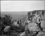 """A Trip to Zuni. View from Tah-wai-alleni or Thunder Mountain, Zuni in the distance. 1000..."