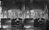 """Interior of San Felipe de Neri Cathedral in Albuquerque, First Church in New Mexico with..."