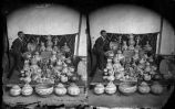 """Aaron Gold with Tesuque Pueblo Pottery, New Mexico"""