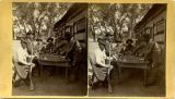 Group of men playing High Ball Poker, Glorieta, New Mexico