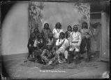Group of Laguna Indians, New Mexico with Tzashima standing third from right
