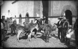 """Dairymen of Chihuahua, at the 'la Reforma' or Market House of Chihuahua, Mexico"""