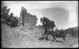 """Ruins of Ancient Aztec Tower near Fort Wingate, New Mexico"""