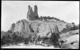"""Navajo Church Rock, Famous Land Mark on the Old Prescott Trail"""