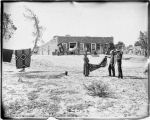 """Scene at a Trading Post (Hubbell), Buying a Blanket"", Ganado, Arizona"