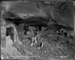 """Prehistoric Ruins in Canon de Chelly, Arizona. Interior of Mummy Cave"""