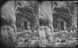 """Cliff Dwellings near Navajo Church Rock. Near Fort Wingate, New Mexico"""