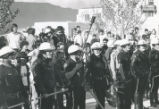 1970 student strike - Albuquerque Police outside SUB