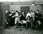 Actors perform for KOB radio show, Albuquerque