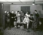 Actors perform for radio show, Albuquerque