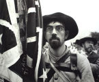 """American South"" series, Confederate flag protestor, Austin, Texas"