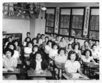 Group of students in classroom, either Albuquerque or Santa Fe Indian School