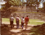 Ambassador Mari-Luci Jaramillo and escorts enter the Copán Ruins