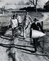 Crew carrying Dr. Goddard's rocket - c. 1940